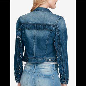 Jessica Simpson Ruffle Denim Jacket Juniors